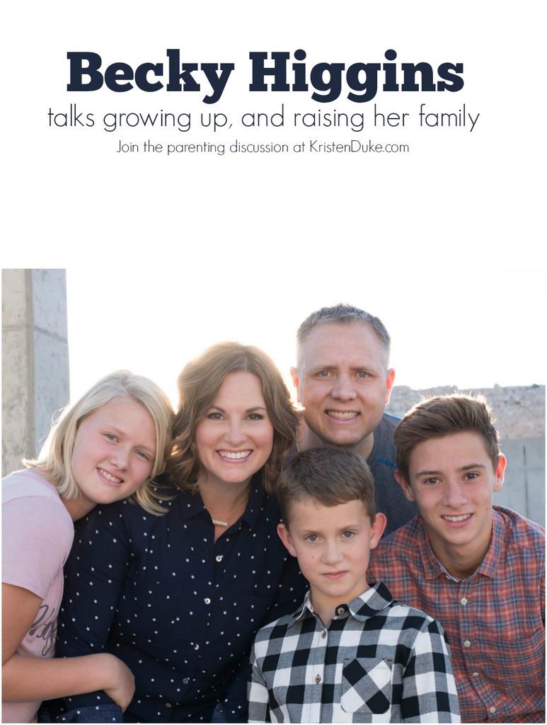 Becky Higgins family
