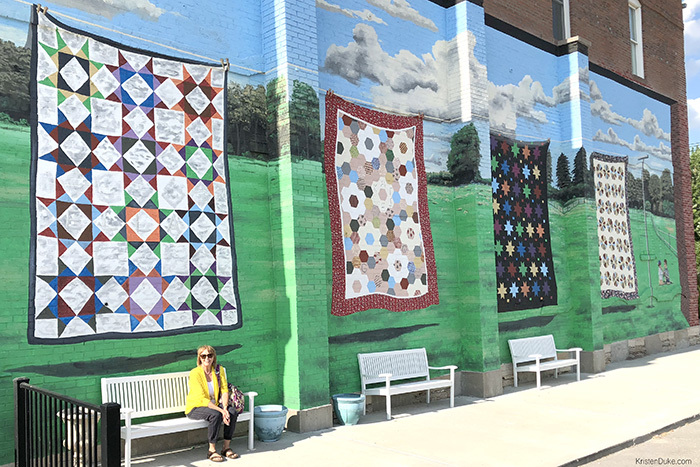 quilt wall mural Hamilton Missouri