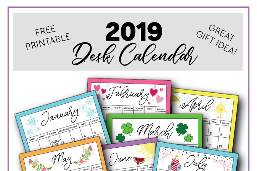 2019 Calendar Printable Capturing Joy With Kristen Duke