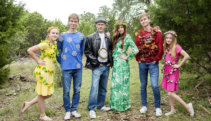 Mother Nature and Father Time Family Halloween Costumes