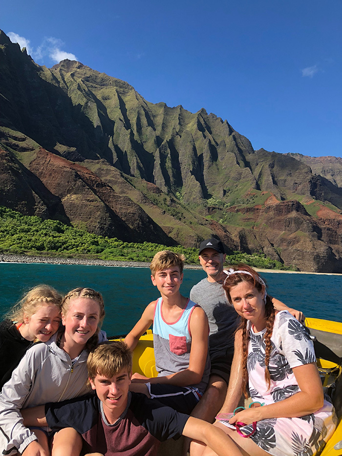 Napali Coast family picture