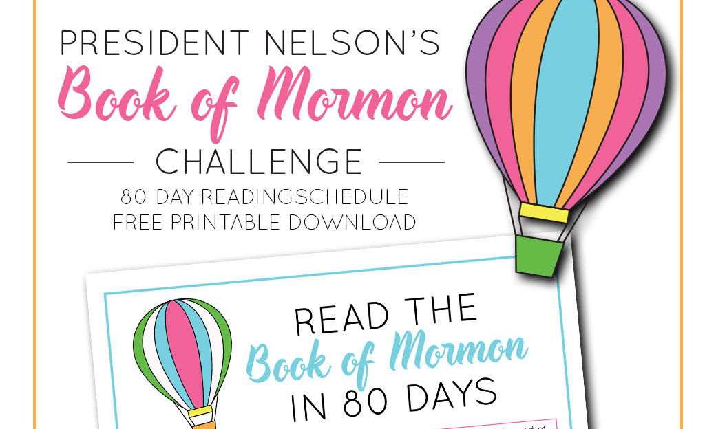 picture relating to President Nelson Challenge Printable named Guide of Mormon Looking through Chart Shooting Contentment with Kristen Duke