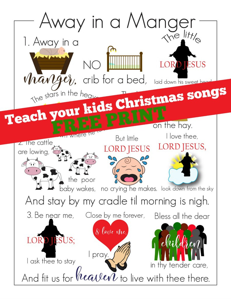 Learn Away in a Manger Christmas Song