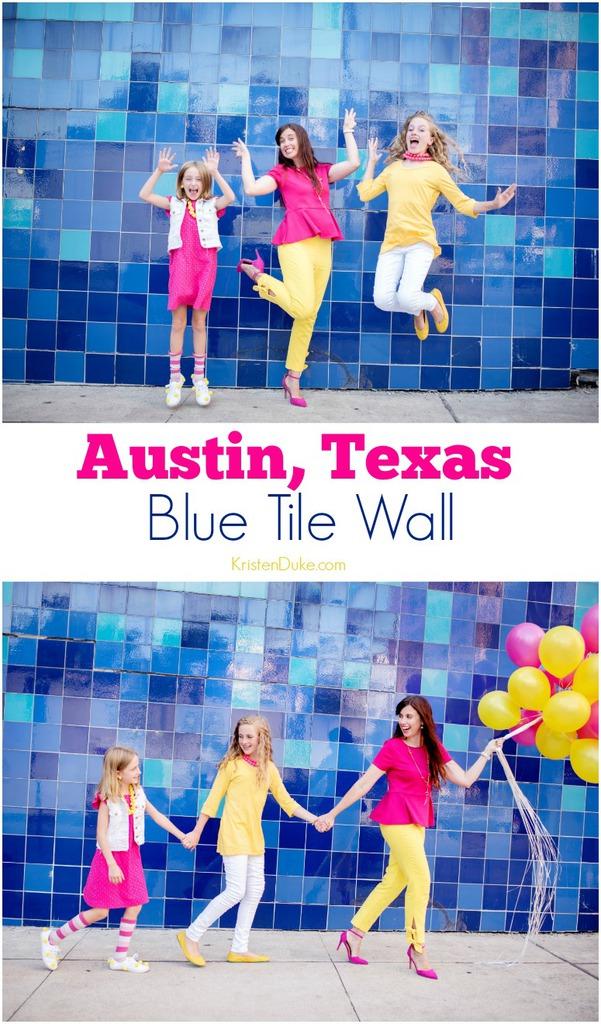 Blue Tile Wall Austin
