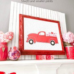 Red Truck Valentine