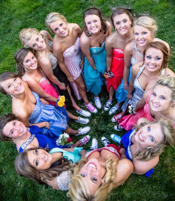 Girls Prom ideas with converse shoes