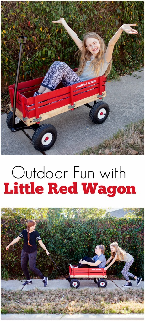 Outdoor Fun with Little Red Wagon Radio Flyer