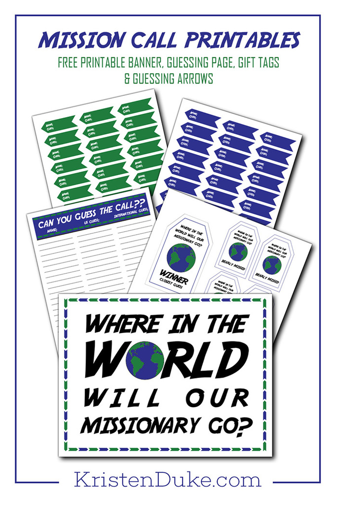 Mission Call Printables
