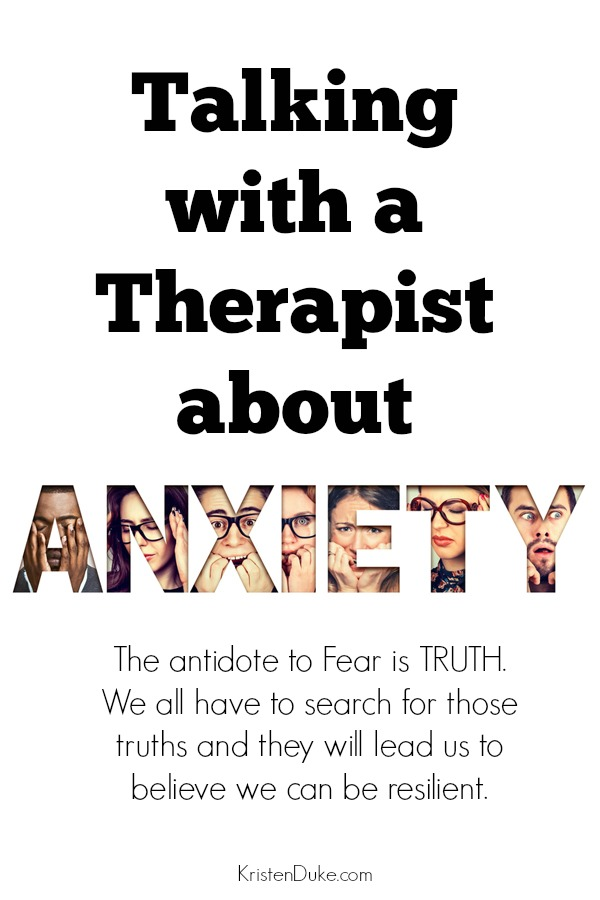 Talking with a Therapist about Anxiety and Self Care
