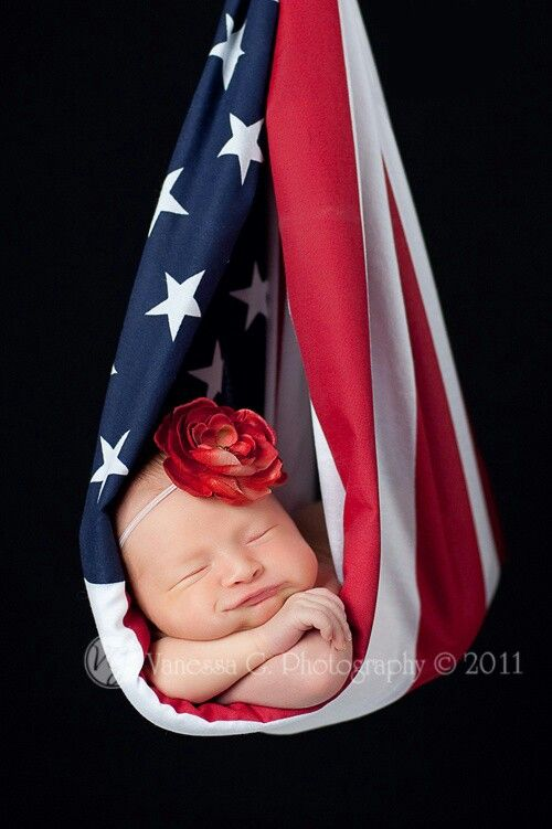 4th of July baby in American Flag