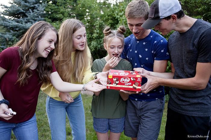 Teens eating Kit Kat Ice cream