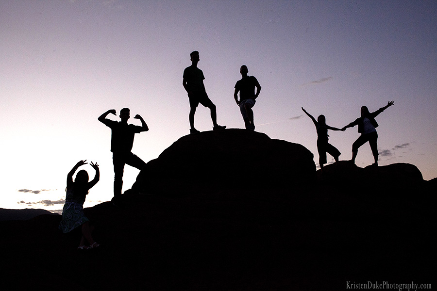 Garden of the Gods Silhouette picture