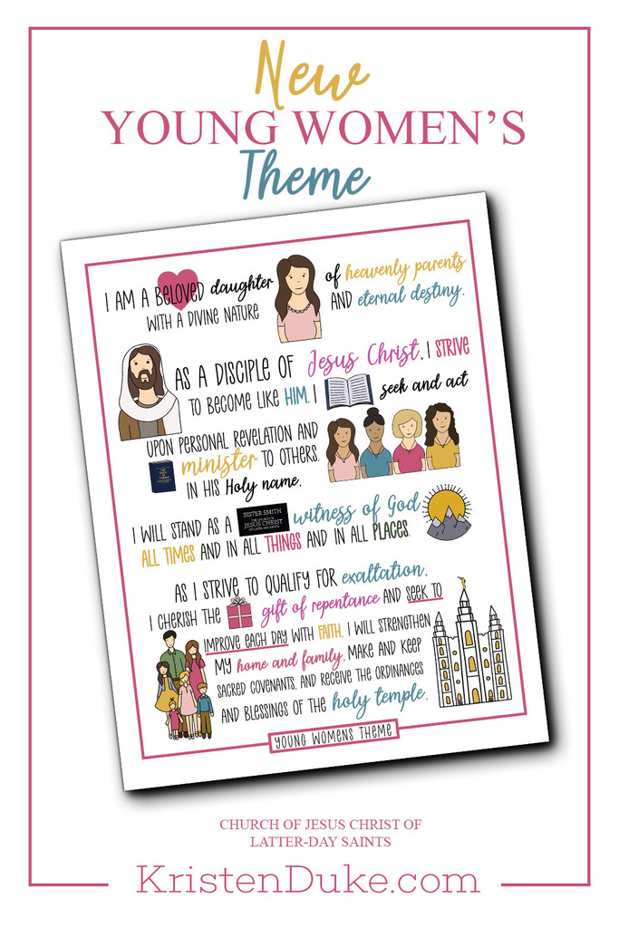 New Young Womens Theme for the Church of Jesus Christ of Latter day Saints